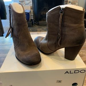 Aldo - Ankle Boot - Cowboy - Taupe - Size 38